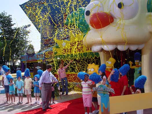 Simpsons Ride Grand Opening