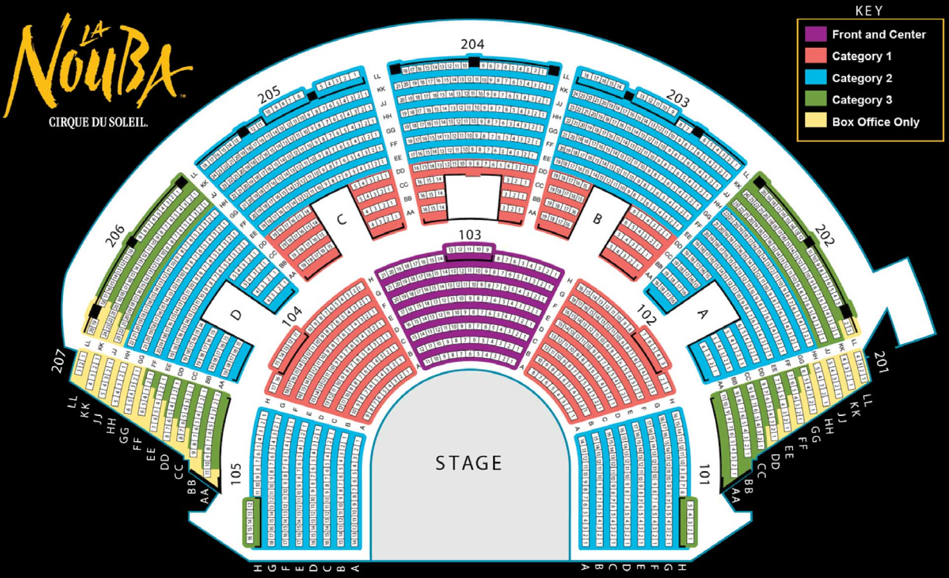 Cirque du Soleil Seating Chart at Dsiney Springs – Seating Chart