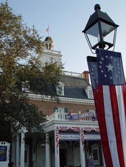 The American Adventure pavilion at Epcot's World Showcase.