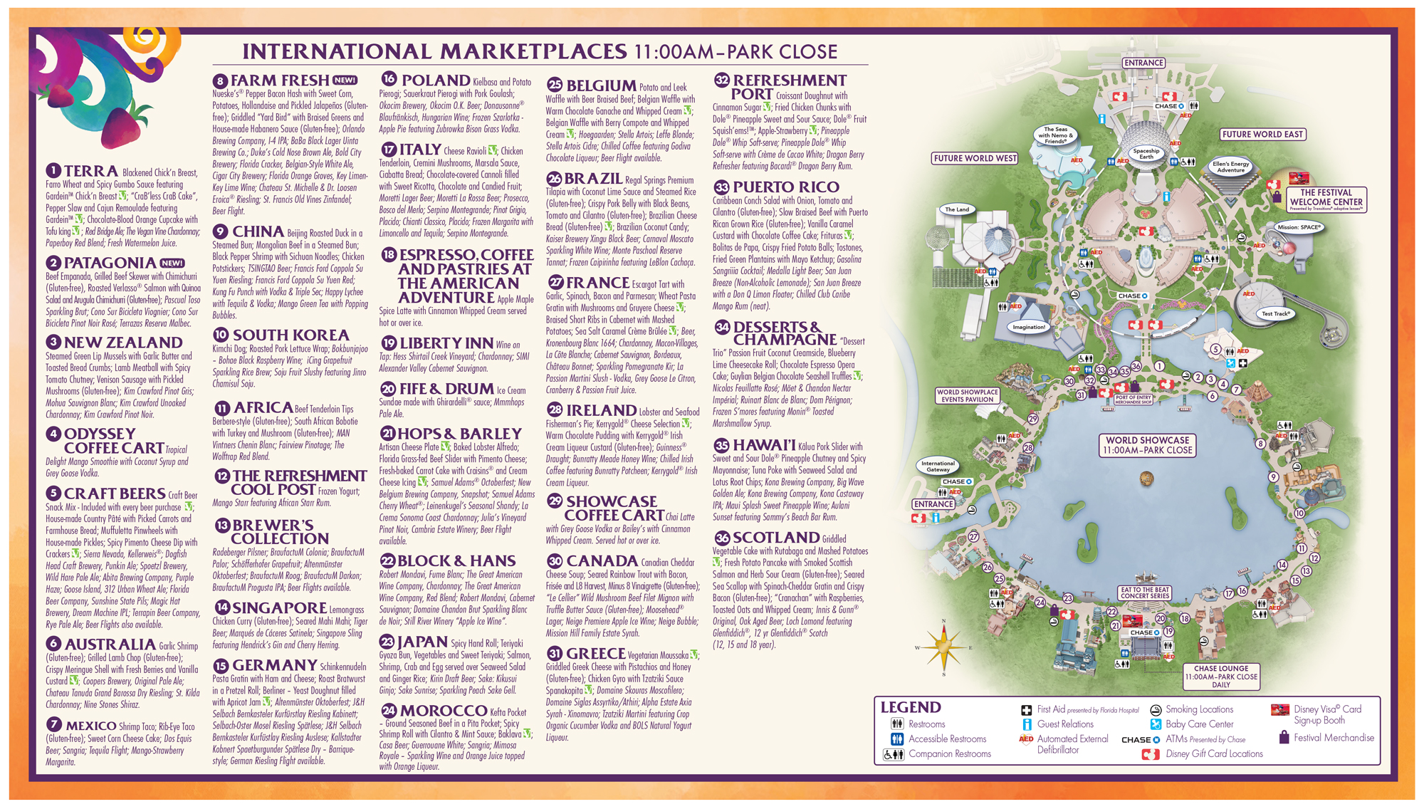 epcot food and wine festival map