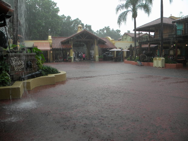 Afternoon shower in Adventureland.