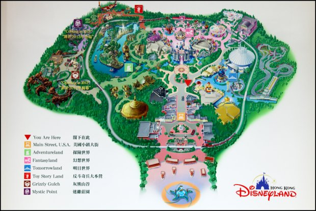 Map of Hong Kong Disneyland