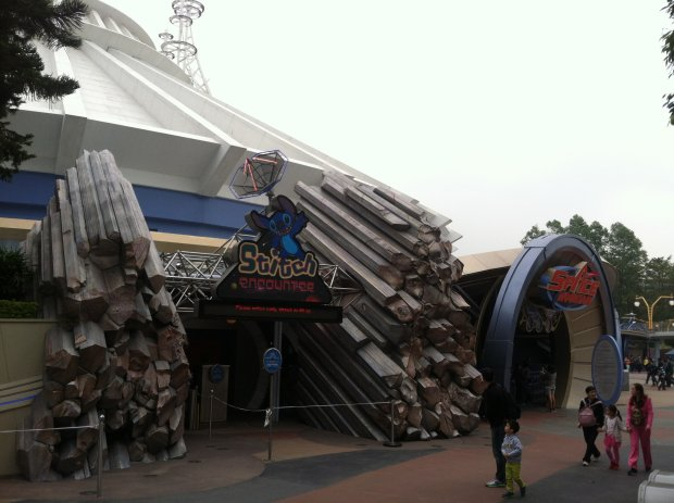 Space Mountain at Hong Kong Disneyland