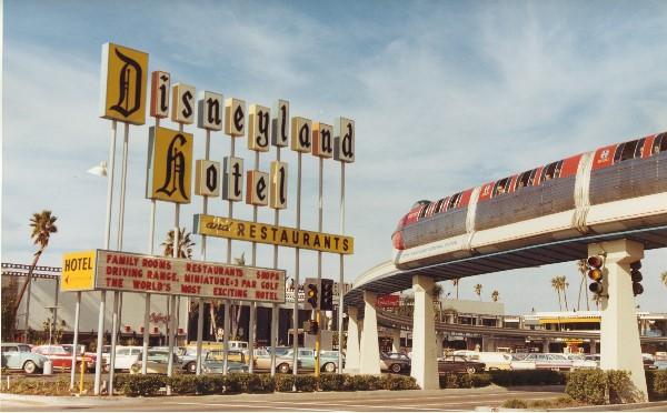 Monorail and Disneyland Hotel