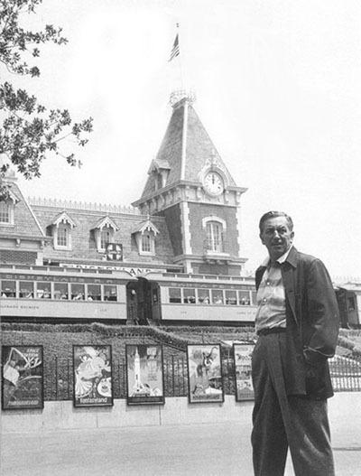 Walt Disney at entrance