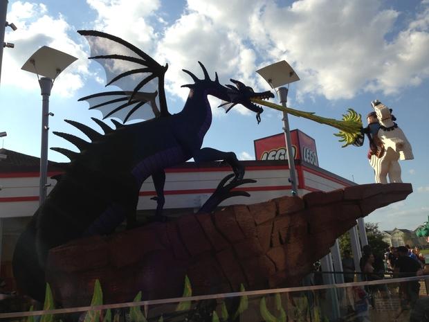Lego creation at Downtown Disney.