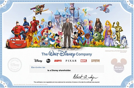 Disney Collectible Certificate