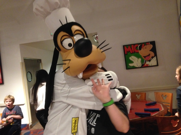 Great Character interaction at Chef Mickey's.