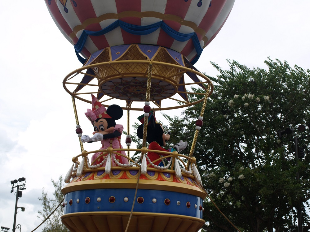 Mickey and Minnie during the Festival Of Fantasy Parade, Magic Kingdom