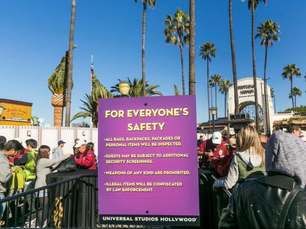 Theme Parks-Enhanced Security