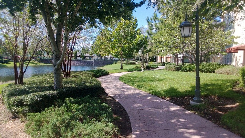 The walkway From The Congress Park Section to Disney Springs