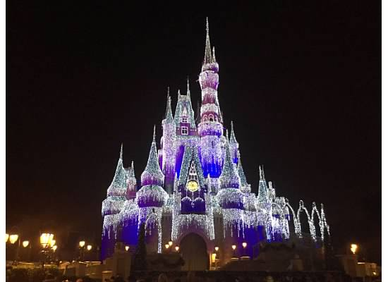 The iconic castle looking its best for the holidays.