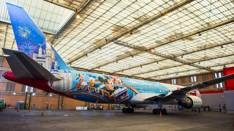 Tam Airlines Wraps Plane With Disney Character Design