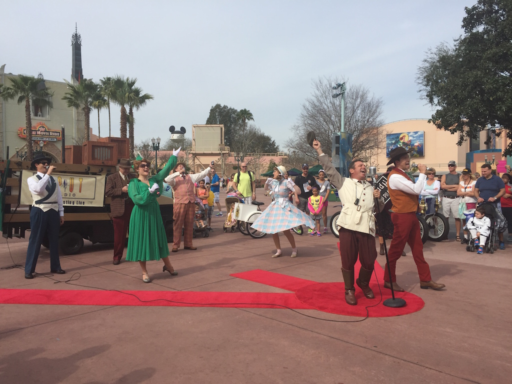 "Some of the ""Streetmosphere"" characters at Hollywood Studios.  Photo courtesy of Leah Zanolla"