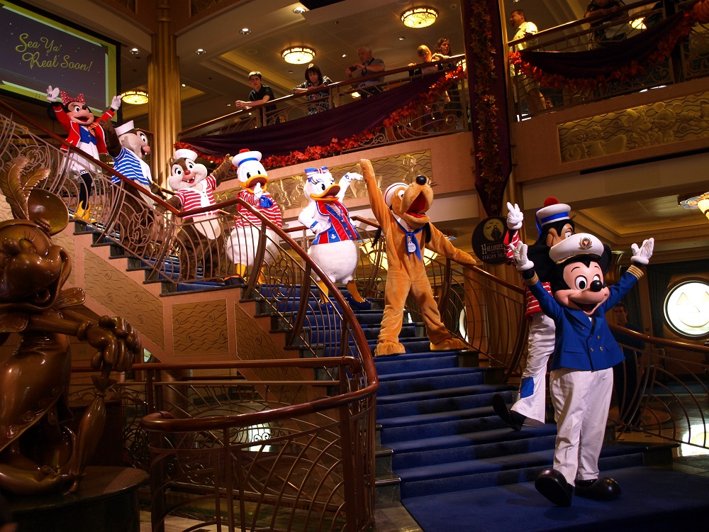 The Characters saying their farewells In the final show of the cruise - See Ya Real Soon ...