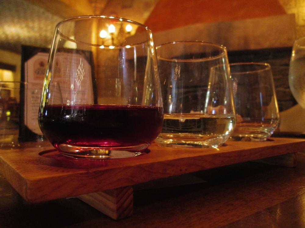 2015-01-06q Tutto Gusto wine flight 1