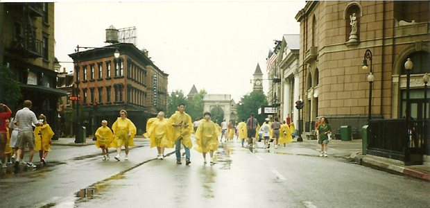 Our rainy trip in September of 1994. We were at, the then, MGM Studios