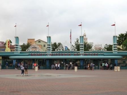 Entrance to California Adventure early in the morning.