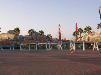 The entrance to California Adventure as it looked in 2007.