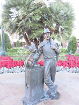 To me the Storytellers statue shows Walt Disney's excitement for the future that seems fitting for this park.