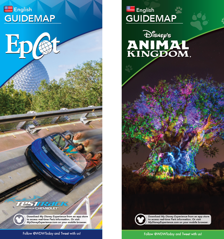 New park maps coming for Epcot and Disney\'s Animal Kingdom