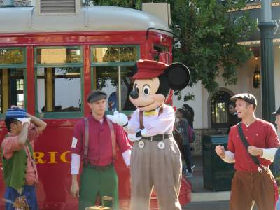 California Adventure offers some great music acts, like the News Boys.