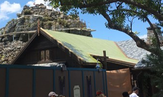 Construction walls moved in Norway Pavilion, New Restrooms Open