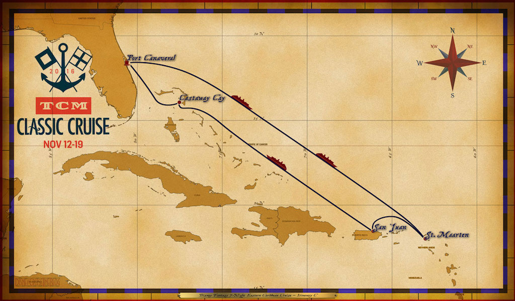 Disney Fantasy Map on