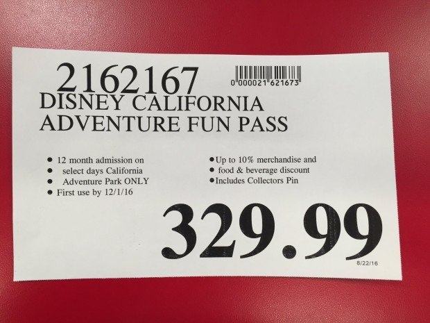 California adventure coupons discounts
