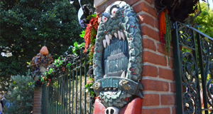 Preview of this year's gingerbread house at Disneyland's Haunted Mansion Holiday