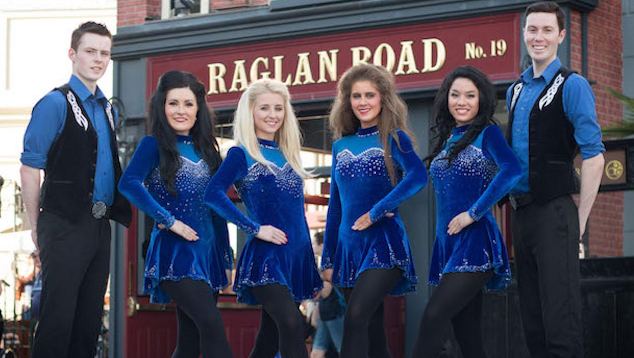 The Raglan Road Irish Dancers perform at the Raglan Road Irish Pub at Disney Spring in Lake Buena Vista, FL.