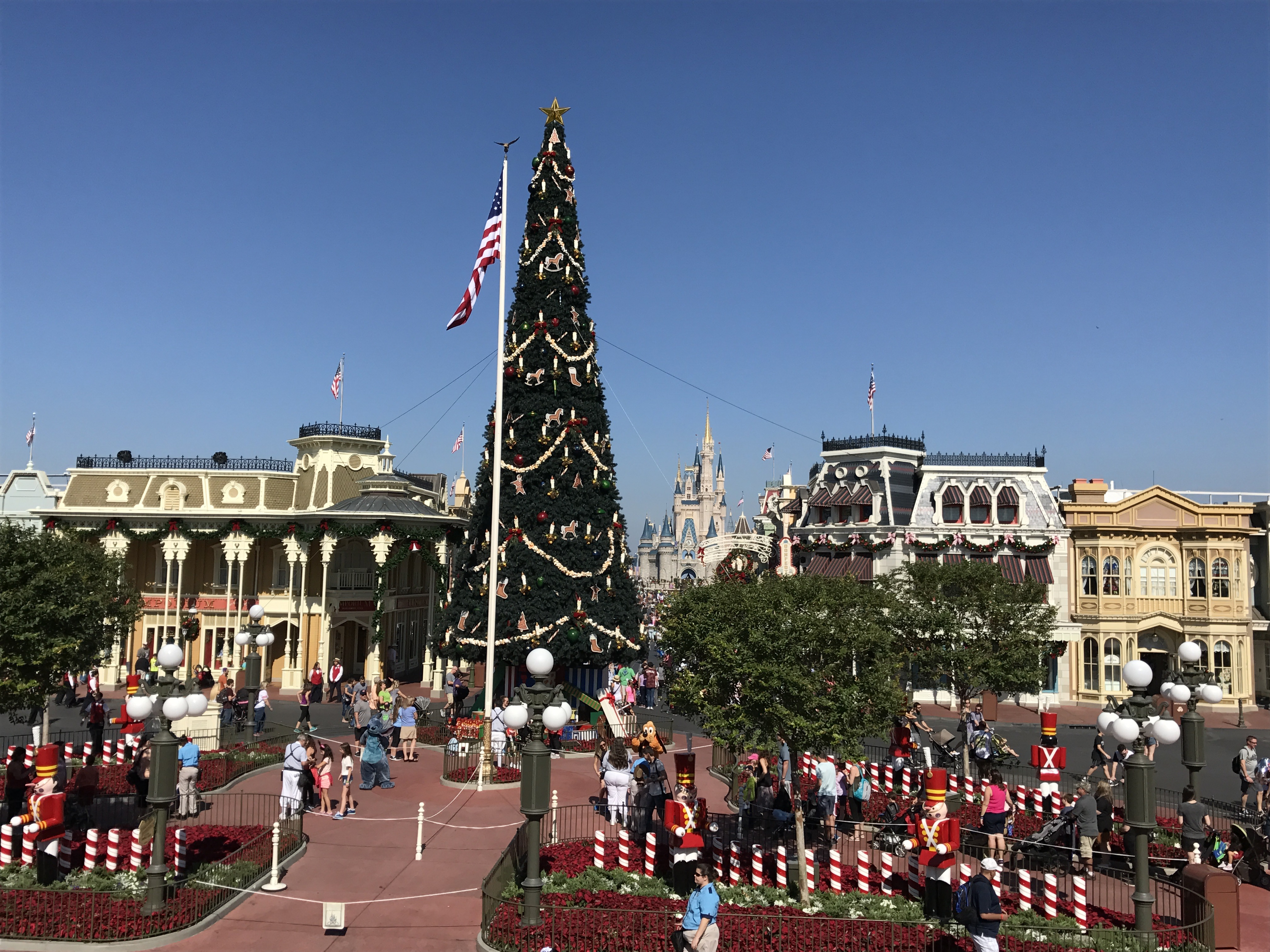 Christmas Decorations On Main Street U S A Photos