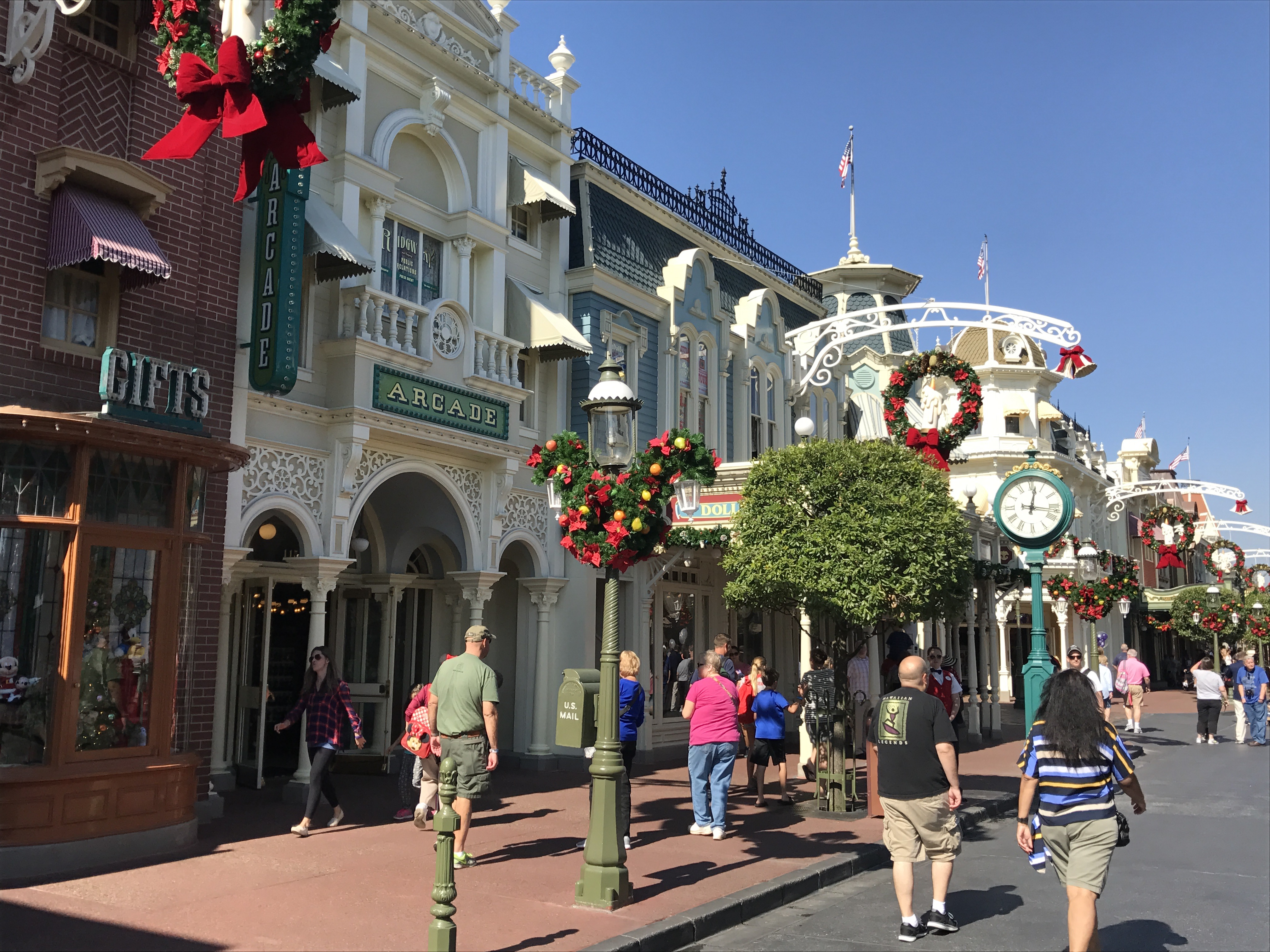 Christmas Decorations On Main Street U.S.A.