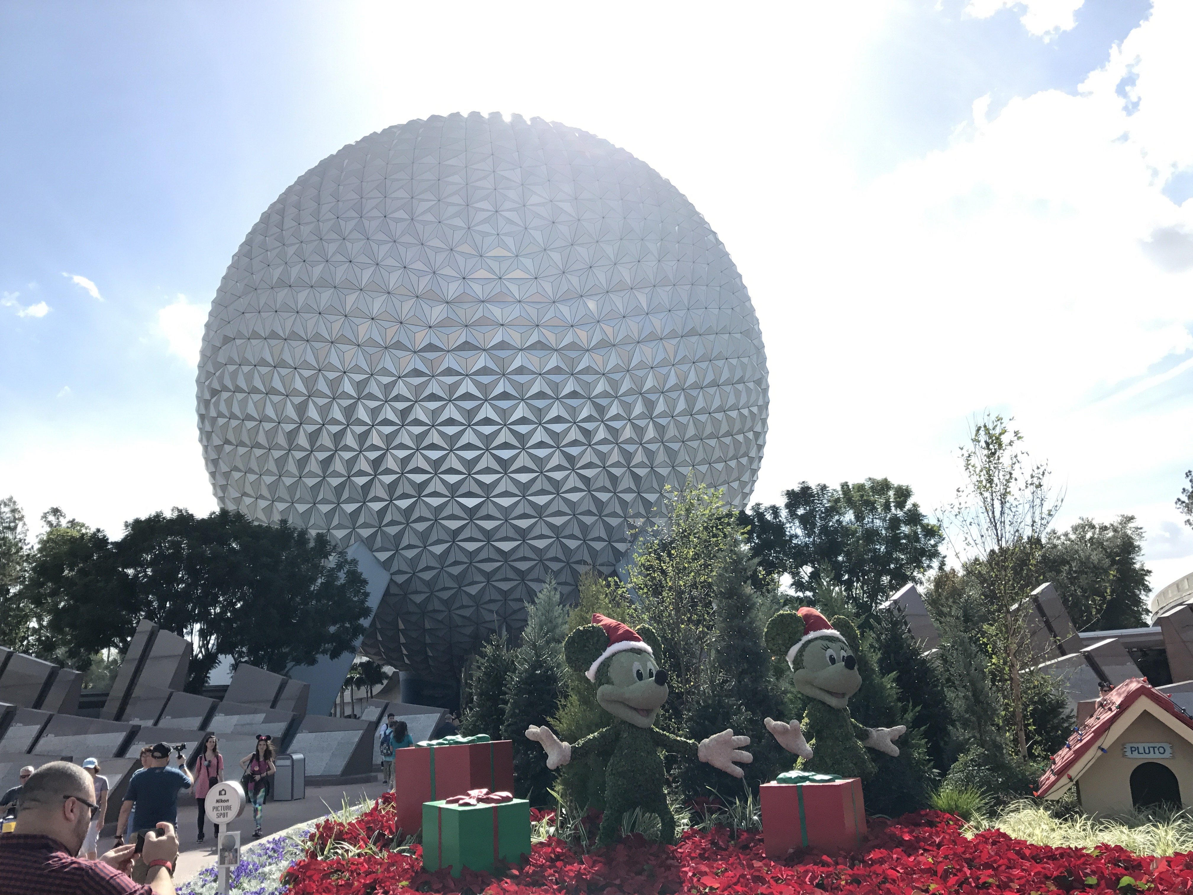 Christmas Decorations At Epcot Photos