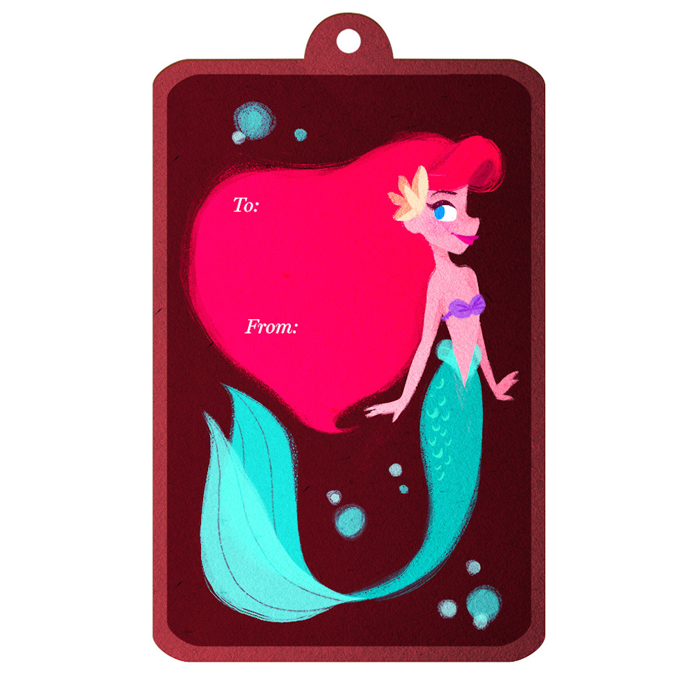 New Gorgeous Disney Princess Printable Gift Tags For The Holidays