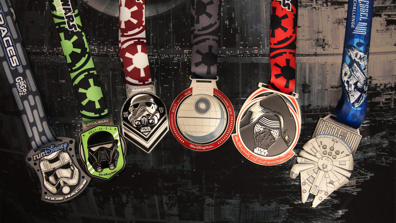 Rundisney Star Wars Half Marathon The Dark Side Medals
