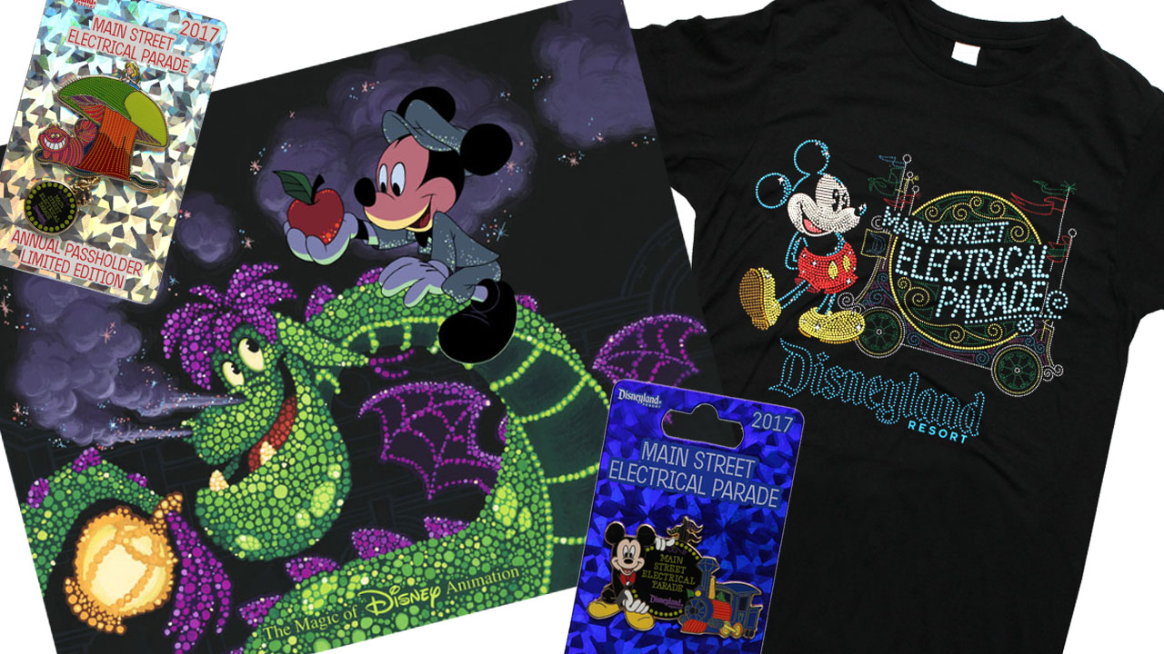 New Main Street Electrical Parade merchandise