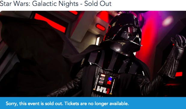 Star Wars Galactic Nights Sold Out