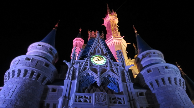 Cinderella Castle during Extra Magic Hours