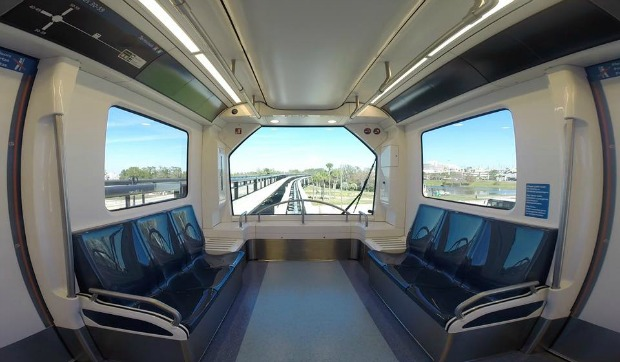 First Of Four New Trains At Orlando International Airport