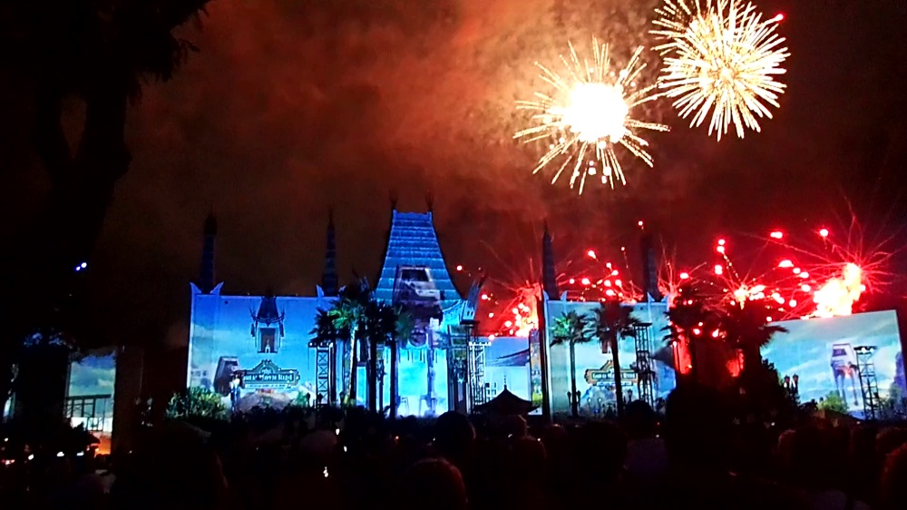 The 'Star Wars' Galactic Spectacular Fireworks Show at Hollywood Studios