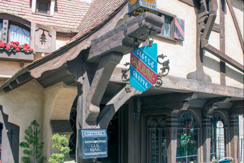 """The Castle Holiday Shoppe is now open in Fantasyland at Disneyland. It sits where the """"Castle Heraldry Shoppe"""" once stood, but closed in December 2016. Disneyland Resort officials said the new shop is a permanent addition. (Photo by Mark Eades, Orange County Register/SCNG) Taken in Anaheim at Disneyland on Sunday, April 23, 2017."""