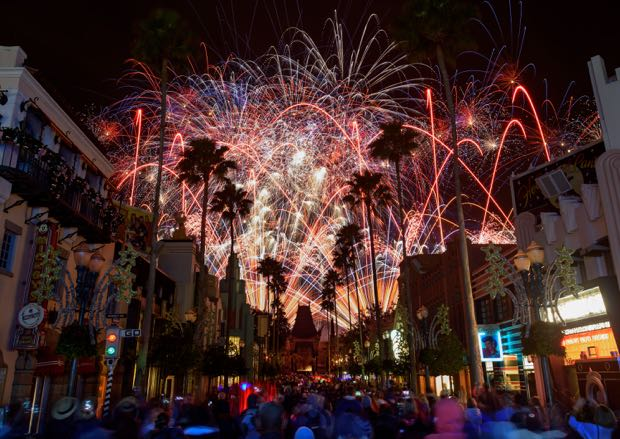 "Guests visiting Disney's Hollywood Studios can experience ""Symphony in the Stars: A Galactic Spectacular,"" a dazzling Star Wars-themed fireworks show set to memorable Star Wars music from throughout the saga. The fireworks spectacular is featured nightly. Disney's Hollywood Studios is one of four theme parks at Walt Disney World Resort. (Todd Anderson, photographer)"