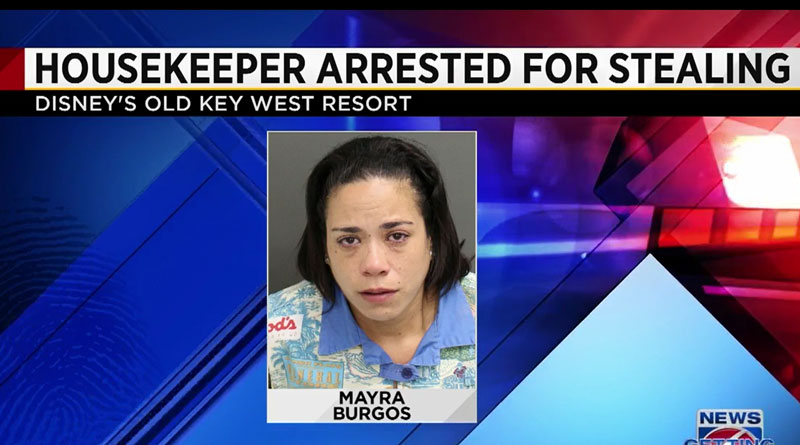 Housekeeper Arrested for Theft at Disney's Old Key West Resort
