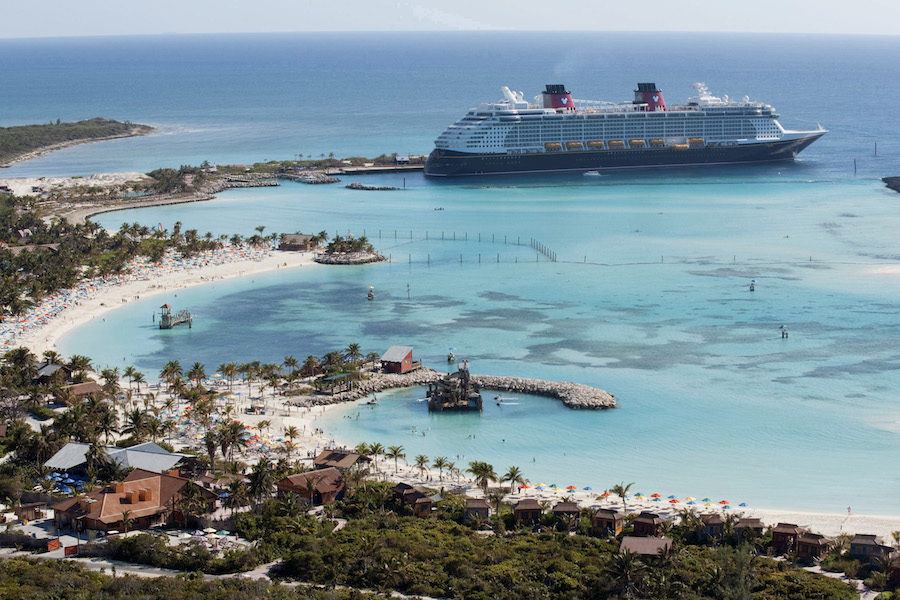 Guests sailing during select 2018 voyages from Galveston, Texas, and New York will enjoy a visit to Disneyís private island in the Bahamas ñ Castaway Cay. In a setting of crystal-clear turquoise waters, powdery white-sand beaches and lush landscapes, the island offers activities for every member of the family. (David Roark, photographer)