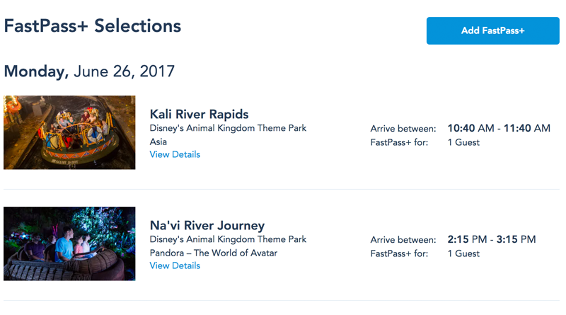 My Disney Experience Information