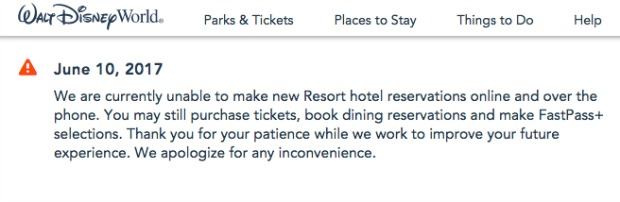 WDW Res down
