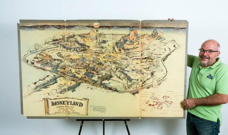 Walt Disney S Original Disneyland Presentation Map Sells For 708 000 At Auction