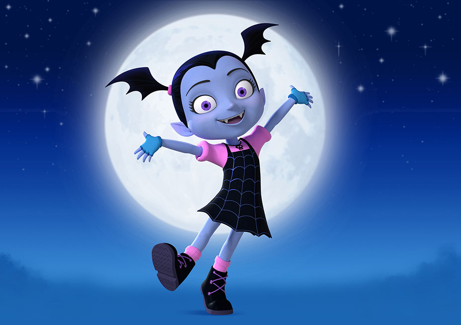 """VAMPIRINA - Disney Junior has ordered two new animated series, """"Vampirina,"""" executive-produced by """"Doc McStuffins"""" creator Chris Nee, and """"Puppy Dog Tails,"""" created by comedian Harland Williams. Both series have begun production and are slated to premiere in 2017. (Disney Junior)"""