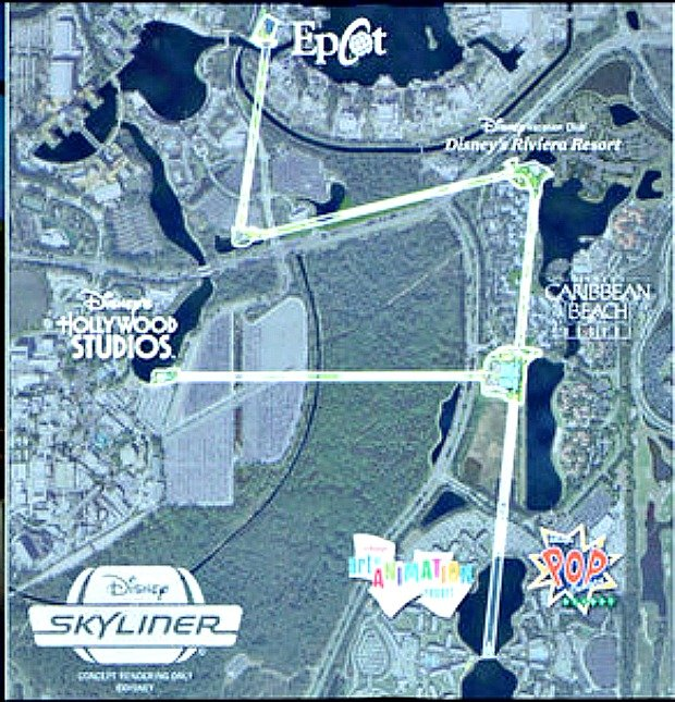 Disney skyliner transportation system cabins are going to slow down at the disney skyliner turn station along buena vista drive and guests will be able to see the mechanical and aerial elements gumiabroncs Image collections